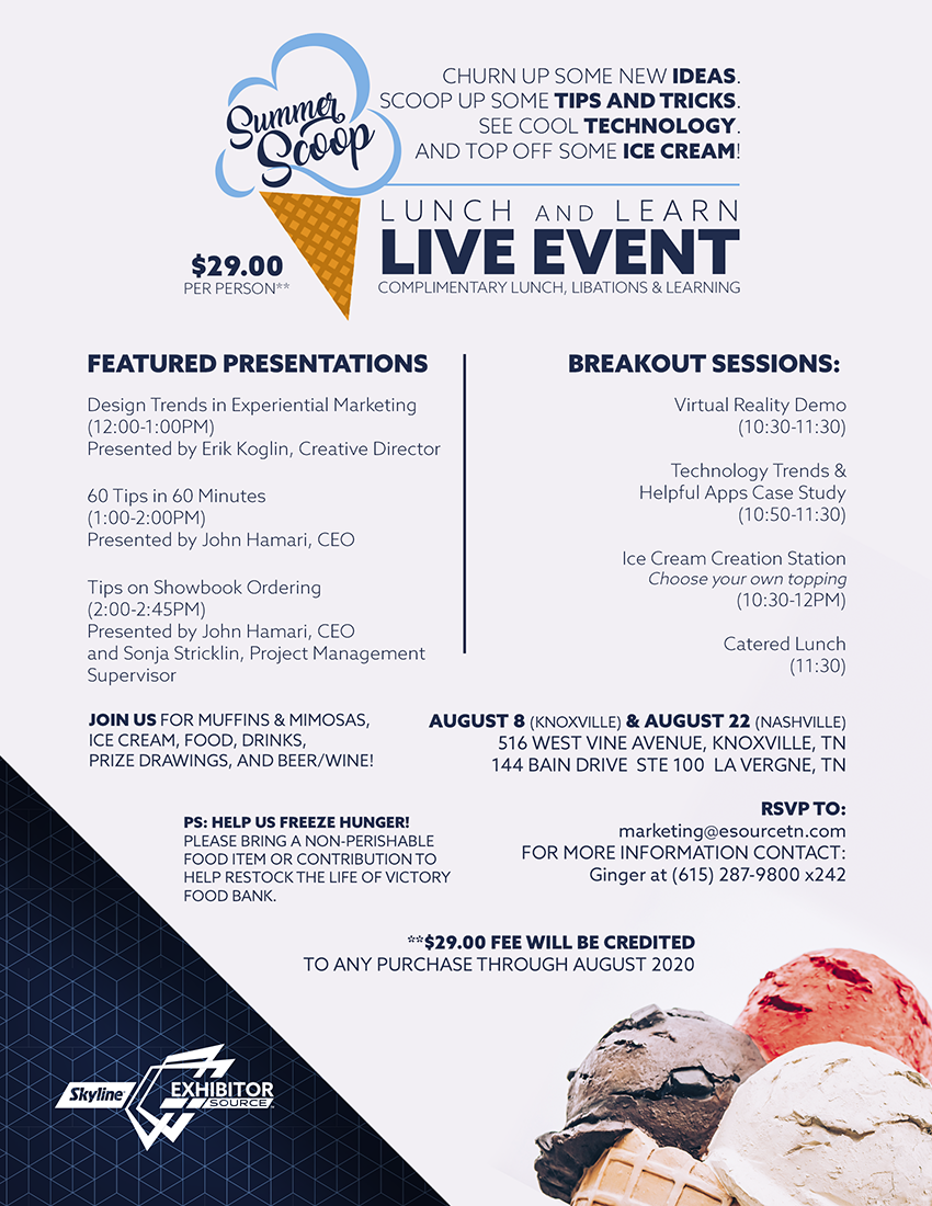 2019 Summer Scoop Seminar Flyer