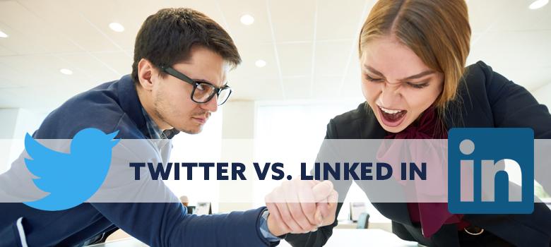 Twitter vs LinkedIn 04-08-2019